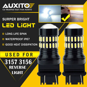 Auxito 2x 3157 4057 3057 3457 48smd White Backup Reverse Led Light Bulb 2400lm A