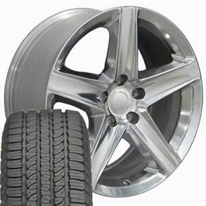 20 Rims Tires Fit Jeep Dodge Grand Cherokee Polished Wheels Gy Tires 9082