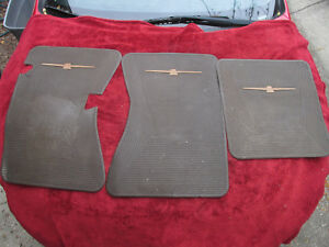 Oem 1964 1965 1966 Ford Thunderbird Rubber Floor Mat Set Original