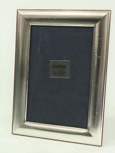 Siena Italy Sterling Silver Picture Frame Glass Wood 4 X 6 Anne Anka