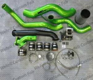 Wehrli Fab S300 Single Turbo Install Kit For 2007 5 2010 Lmm 6 6l Duramax