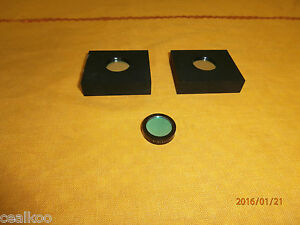 Oriel Newport 3 Optical Filters 2 Are Mounted
