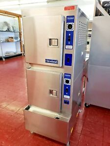 Cleveland 24cea10 Electric 10 Pan Convection Steamer 2 Compartment Oven Nice