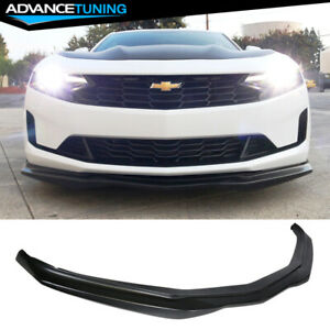 Fits 16 18 Chevrolet Camaro Ss Ac Style Front Bumper Lip Unpainted Pu