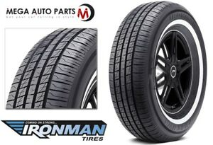 1 X New Ironman Rb 12 Nws 225 75r15 102s White Wall All Season Performance Tires