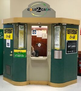 Mall Kiosk Ticket Booth Enclosed Retail Booth Secure Shopping Center Booth