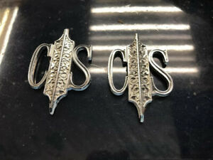 Oldsmobile Cutlass Supreme cs Sail Panel Metal Badge Logo Emblems Oem 87875429
