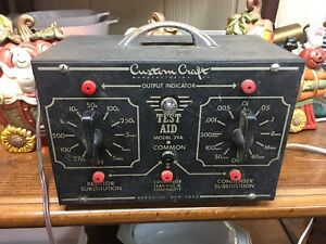 Vintage Model 39a Test Aid Custom Craft Manufacturing Company