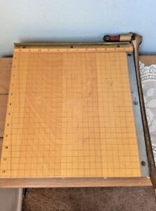 Vintage Ingento No 4 Guillotine 12 Paper Cutter Trimmer
