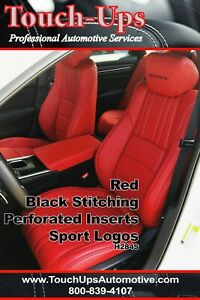 2018 Honda Accord Sport Ex Hybrid Sedan Red Blk Katzkin Leather Seat Covers Kit