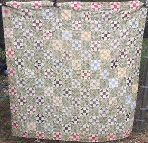 Antique Vintage Early 1900s Quilt Top Shoo Fly