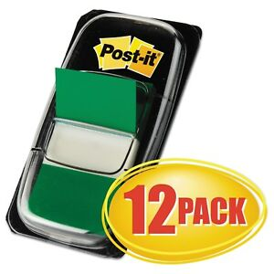 Post it Flags Marking Page Flags In Dispensers Green 50 Flags dispenser 12