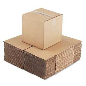 General Supply Brown Corrugated Cubed Fixed depth Shipping Boxes 10 inch Long