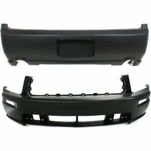Front Rear Bumper Cover Set For 2005 2009 Ford Mustang Gt Model Primed Capa