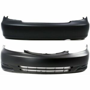 Front Rear Bumper Cover Set For 2002 2004 Toyota Camry Le Xle Usa Built Primed