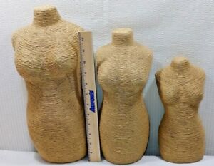3 Decorative Tabletop Dress Forms Mannequin Displays 15 12 9