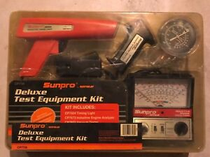 Actron Iii Sunpro Deluxe Test Kit Timing Light Engine Analyzer Vacuum Tester Etc