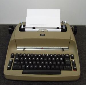 Ibm Selectric I Electric Typewriter works Well But Will Need New Ribbon