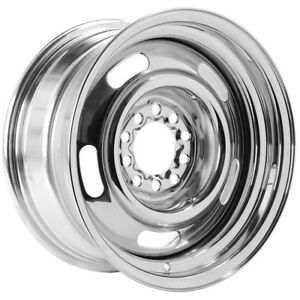 15 Inch Vision Rally 57 15x7 5x127 5x5 6mm Chrome Wheel Rim