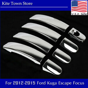 Chrome Trim 4 Door Handle Covers For Ford Kuga Escape Focus 2012 2013 2014 2015