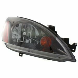 Halogen Headlight For 2004 2007 Mitsubishi Lancer Right Black Interior W Bulb