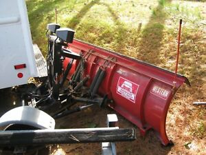 8ft Western Snow Plow Straight Blade Off 2007 Ford F350 Complete Frame Wiring