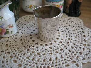 Sale Vintage Fisher Silversmiths Sterling Silver Shot Glass Julep Cup