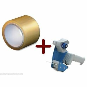 Clear Hotmelt Packing Tape 2 inch X 110 Yards 6 Rolls 2 Mil With Dispenser Heavy