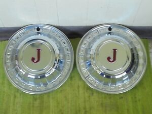Vintage Aftermarket Jeep Hubcaps 15 Set Of 2 Wheel Covers