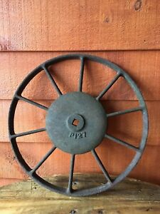 Antique Cast Iron Wagon Wheel 10 Spoke