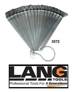 Lang Tools Usa 3072 Cummins Diesel Truck Valve Adjust Feeler Gauge Set 23 Blade