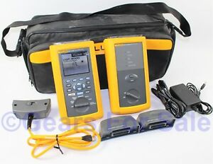 Fluke Networks Dsp 4000 Cable Tester Cat5e Cat6 Dsp4000 Bundle