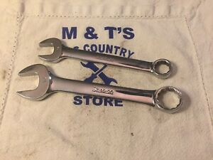 Snap on Tools Usa 2pc 12pt Metric Short Combination Wrenches Oexm14 Oexm19