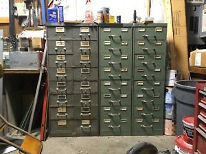 Two Vintage Heavy Duty Metal File Cabinets