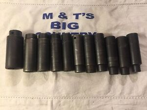 Mac Tools 11 Piece 1 2 Drive Deep Metric Impact Socket Set 10 19mm