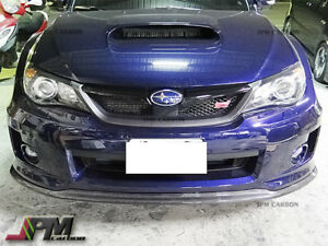 For Subaru Impreza Wrx Sti 2011 2014 Cs1 Type Front Bumper Lip Carbon Fiber Cf