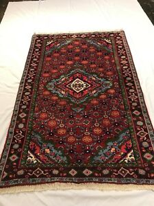 Persian Bijar Rug 4 4 X 6 0 Hand Knotted In Iran Antique Very Thick Pile