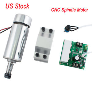 Us 400w Cnc Spindle Motor Er11 Mach3 Pwm Speed Controller Mount Engraving