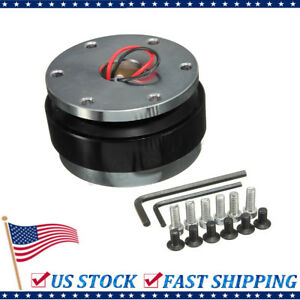 Universal Short Quick Release Kit Fit 6 Hole Steering Wheel Hub Boss Adapter Usa