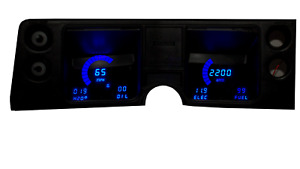1968 Chevelle Digital Dash Panel Blue Led Gauges Made In The Usa