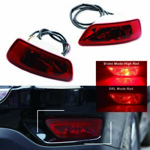 Red Led Car Rear Fog Tail Light Assy Kits For 11 15 Grand Cherokee Wk2 compass