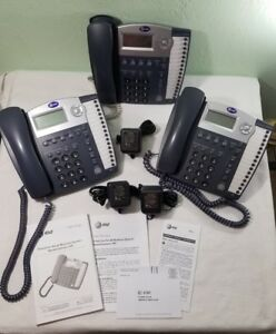 Lot Of 3 At t 4 line Small Business System Speakerphones 945 Untested For Repair