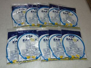 10 Pk Aearo E a r Ultraflex Headband Banded Ear Plugs Hearing Protection 27db