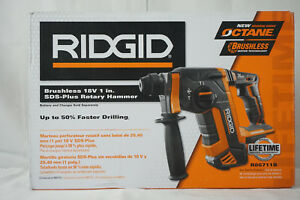 Ridgid R86711b 18v Octane Cordless Brushless 1 Sds plus Rotary Hammer Tool Only