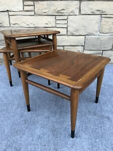 Set Of 3 Mid Century Danish Modern Lane Acclaim Stacking Snack End Tables