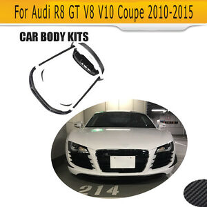 Fit For Audi R8 10 15 Trunk Spoiler Rear Diffuser Side Skirts Bodykits Carbon