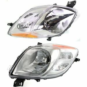 Halogen Headlight Set For 2007 2008 Toyota Yaris Hatchback Left