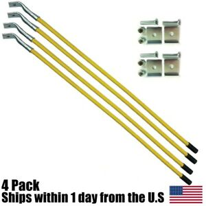 4pk 26 Yellow Snow Plow Marker Guides Blade Kit For Meyer 09916 W Hardware