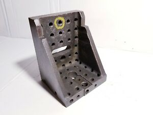 5 Double Webbed And Tapped Precision Ground Angle Plate Machinist Block