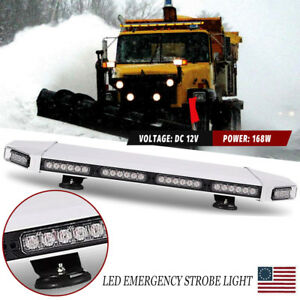 27 56 Led Traffic Adviser Warning Emergency Signal Roof Strobe Light Bar Amber